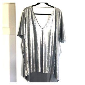 Rokoko metallic mini t-shirt dress